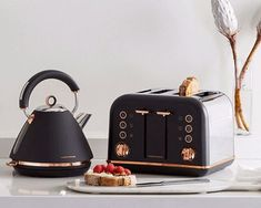 The Accents Rose Gold collection combines the iconic kettle and toaster design y. The Accents Rose Gold collection combines the iconic kettle and toaster design you know and love with beautiful rose gold trims and details. Source by. Kitchen Items, Home Decor Kitchen, Kitchen Interior, Copper Kitchen Decor, Kitchen Things, Kitchen Supplies, Kitchen Gadgets, Toaster Design, Kettle And Toaster