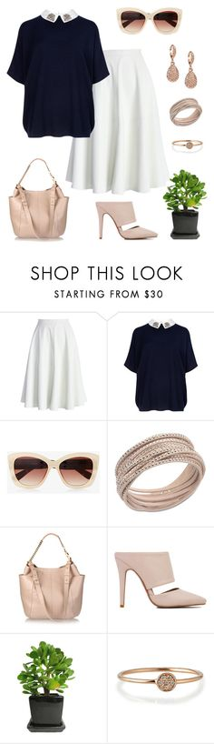 """""""BNW"""" by schenonek ❤ liked on Polyvore featuring Chicwish, Ted Baker, Express, Swarovski, Jimmy Choo, Akira Black Label, Sydney Evan and Givenchy"""