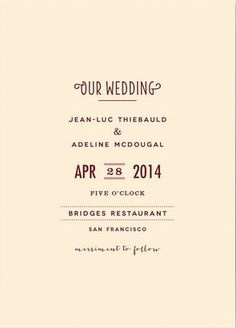 REVEL: Minimalist Wedding Invitation