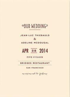 REVEL: Minimalist Wedding Invitation