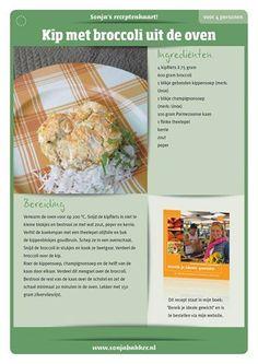 Kip met broccoli uit de oven. Sonja Bakker.