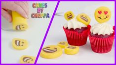 Magic Emoji (Rolled Fondant) Cupcake Toppers  (How To)
