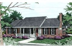 Browse nearly ready-made house plans to find your dream home today. Floor plans can be easily modified by our in-house designers. Colonial House Plans, French Country House Plans, English Country Decor, Southern House Plans, Bungalow House Plans, Traditional House Plans, Ranch House Plans, House Floor Plans, Traditional Exterior