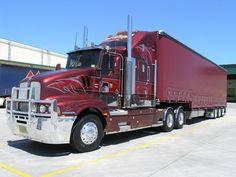 ✿Kenworth In Australia✿ Show Trucks, Big Rig Trucks, Kenworth Trucks, Peterbilt, Trains, Road Train, Custom Trucks, Cars Motorcycles, Cool Cars