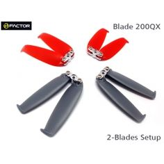 200QX 2-Blades Folded Prop set (4 Blade Grips, 12 Blades) from Hobby Direct