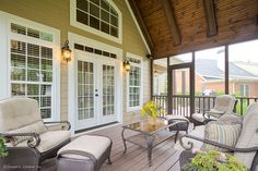 Plan #921 - The Ivy Creek. A screened porch was added with access from the great room. http://www.dongardner.com/plan_details.aspx?pid=2487. #Outdoors #Screened #Porch