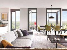 Henninger Turm - Actris Henninger Turm GmbH & Co. KG - Die Ausstatung der Eigentumswohnungen im Henninger Turm lassen sich ganz nach eigenen Vorstellungen arrangieren. Ausgesuchte Natursteine treffen auf warme Hölzer und erstklassige Designobjekte.