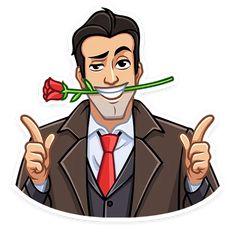Набор стикеров для Telegram «Секретный агент» Man Character, Character Design, Emoji Man, Fun Illustration, Hd Images, Caricature, Adult Coloring, Planner Stickers, Vintage Men