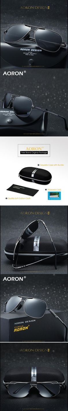 AORON Brand Designer Sunglasses Polarized Mens Sun Glasses Driving Fishing  Sports UV400 Men Sunglass Male Vintage bfad237aa3