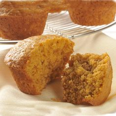 "LIBBY'S Pumpkin Muffins. Makes 72 mini muffins. I'd make my own ""pumpkin pie spice"" including cardamom. Libby's Pumpkin, Canned Pumpkin, Pumpkin Bread, Pumpkin Spice, Libbys Pumpkin Muffins, Breakfast Recipes, Dessert Recipes, Desserts, Fall Breakfast"