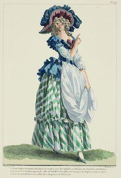 rococo era fashion plate