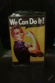 Plechová retro tabule obraz We Can Do It Rosie