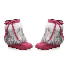 Faux Fur Boots (90 NZD) ❤ liked on Polyvore featuring shoes, boots, faux fur shoes, fake fur boots and faux fur boots