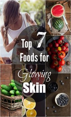 What Food to Eat to Get Healthy & Glowing Skin Top 7 Foods that will Give You Glowing Skin! Foods For Healthy Skin, Healthy Habits, Get Healthy, Healthy Tips, Healthy Snacks, Healthy Eating, Healthy Recipes, Healthy Style, Diet Recipes