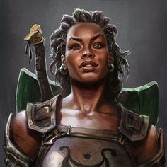 f Fighter Breast Plate Shield Sword fantasy character portrait Fantasy Warrior, Fantasy Rpg, Fantasy Women, Medieval Fantasy, Black Characters, Dnd Characters, Fantasy Characters, Female Characters, Fantasy Portraits