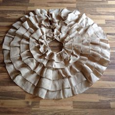 Burlap Ruffle Tree Skirt by CreativeCaterpillar on Etsy, $57.00