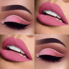 Cute eye make up – www.guugle… Cute eye make up – www. Eye Makeup Blue, Eye Makeup Steps, Pink Makeup, Cute Makeup, Gorgeous Makeup, Pretty Makeup, Barbie Makeup, Edgy Makeup, Dramatic Makeup