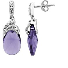 Luminesse Sterling Silver Drop Earrings with Purple and White Swarovski Elements -- to match the ring I got for Christmas! $58.00