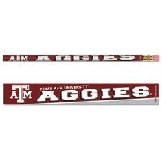 Texas A&M University Pencil 6-pack MNF
