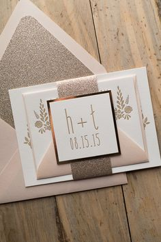 HADLEY Suite Glitter Package, floral wedding invitation, glitter wedding invitations, letterpress, wedding deals