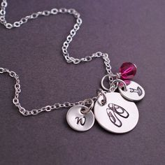 georgiedesigns - Ballet Necklace, Personalized Ballerina Gift, Sterling Silver Ballet Dancer Necklace