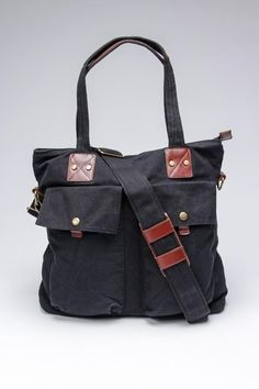 J. Campbell Washed Canvas North South Tote