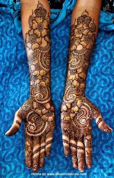 Bridal mehndi or henna designs. by mry3
