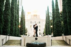 Downtown Los Angeles Engagement Session: Vega and Ernest