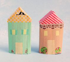 Easy kids craft: make a recycled village