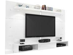 Painel para TV até 60 Illuminé 1 Prateleira 1 Nicho com IIumuinação LED - Caemmun - Painéis para TV - Magazine Luiza