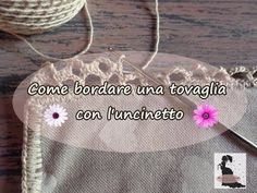 Come bordare una tovaglia con l'uncinetto - YouTube Crochet Fabric, Chantilly Lace, Hand Embroidery Designs, Youtube, Drawstring Backpack, Sewing Patterns, Reusable Tote Bags, Crafts, Embroidery Ideas