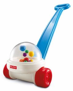 This is the best toy to buy for families you don't really like. It's the fisher price popper Since kids haven't been able to resist the popping action of this push toy! Balls strike the inside of the plastic dome when the Corn Popper is pushed along. First Birthday Gifts, First Birthdays, Birthday List, Birthday Presents, Retro Toys, Vintage Toys, Vintage Games, Vintage Stuff, Toddler Toys