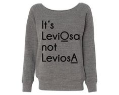 Women's It's LeviOsa Grey Wideneck Sweatshirt