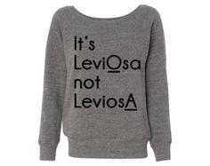 Women's It's LeviOsa Grey Wideneck Sweatshirt