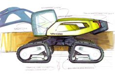The 'Sfinx' excavator concept model #Volvo #Construction #Equipment
