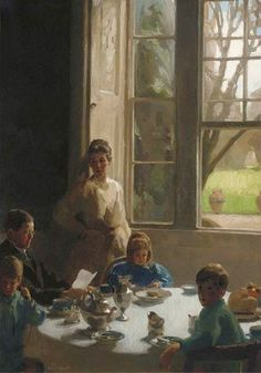 Frederick William Elwell  Breakfast Time  Early 20th century