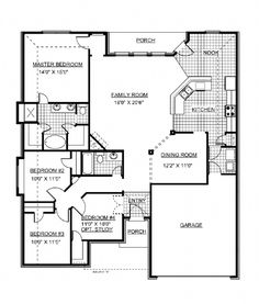 Ranch style open floor plans with basement bedroom floor for Jim walters house plans