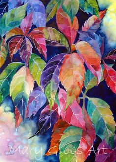plant patterns in nature plant patterns mary gibbsVirginia Creeper by Mary Gibbs ArtWater color by Mary Gibbs (see private watercolor board)Watercolor by Mary Gibbs Her paintings of leaves, grasses, etc.Billedresultat for mary gibbs aquarelas Art Watercolor, Watercolor Leaves, Mary Gibbs, Illustration, Arte Floral, Leaf Art, Painting Inspiration, Art Lessons, Painting & Drawing