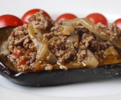 Simple Stuffed Eggplant with Ground Beef Paleo