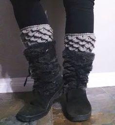 Dragon Scale Armour Boot Cuffs -free crochet pattern- 365 Crochet