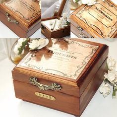 My Little Box of MEMORIES. PERSONALISED MEMORY Box. Write and Store Memories in this Wooden box with its own note pad & pencil. www.etsy.com/uk/shop/DawnAffirmationBoxes. #memories #giftidea #uniquegifts #groupgifts #thoughts #personalisedgifts #notepad #woodenbox #wood
