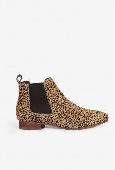 Bottines Chelsea leopard