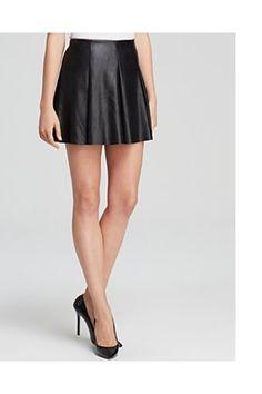 Aqua Skirt - Faux Leather Flippy by Aqua :: Clozette Shoppe  http://shoppe.clozette.co/product/bloomingdales-1116808/aqua-skirt-faux-leather-flippy