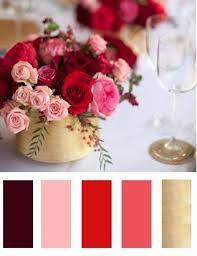 Resultado de imagem para paleta de cores vermelho e rosa para casamento