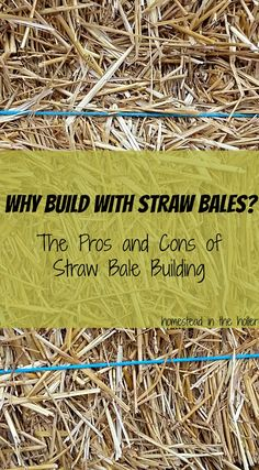 Why Build With Straw Bales? - Homestead In The Holler