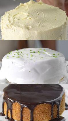 Receita com instruções em vídeo: Aprenda a fazer 3 coberturas simples e fáceis que vão deixar o seu bolo mais bonito e gostoso! Ingredientes: 1 xícara de açúcar, 1 xícara de achocolatado, ¼ de xícara de leite, 50g de manteiga