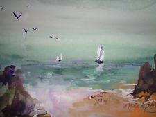 ORIGINAL MILLIE GIFT SMITH  Seascape Expressonism Signed 2000-now [up to14] sail
