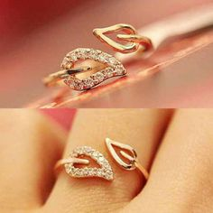 Like and share if you like this Leaves Crystal Rings Tag a friend who would love this
