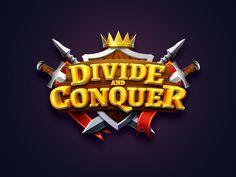 Logo, UI and icons for mobile game Divide and Conquer Mobile Logo, Mobile Game, Fantasy Logo, Game Font, Game Logo Design, Cartoon Logo, Game Concept Art, App Logo, Tips & Tricks
