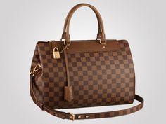 Louis Vuitton men's classic Greenwich now refashioned as Damier canvas handbag for women